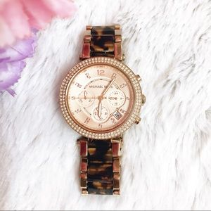 MICHAEL KORS | Rose Gold/Tortoise Parker Watch